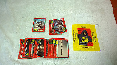 1976 King Kong Movie Trading Card Set Foreign Regina New Zealand + Wrapper