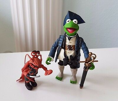 MUPPETS Jim Henson Palisades - CAPTAIN KERMIT Smollet LOBSTER MUPPET SHOW Loose
