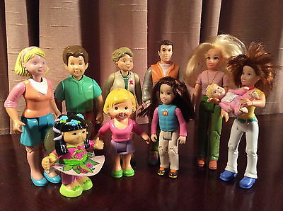FISHER PRICE Lot of 10 VINTAGE Loving Family Mother Father Grandmother *MORE*!