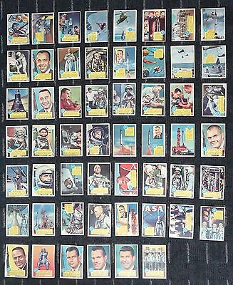 1963 Popsicle Space Card set  only missing card #55 which is the checklist