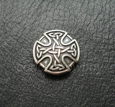 ANTIQUE CRAFT CELTIC CROSS CONCHO SADDLE HORSE TACK CONCHO 1 inch screw back