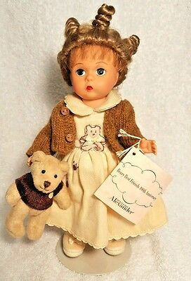 2001 Madame Alexander Doll Beary Best Friends w/ Bear 100th Anniversary #32160