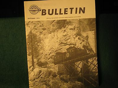 NMRA Bulletin Sept 1974 CPR Minto Paddle boat steamer Canadian Pacific CP Rail
