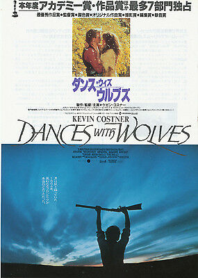 DANCES WITH WOLVES-1990 Japanese Movie Chirashi flyer(mini poster)