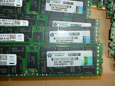 16 Gb PC3L-10600R HP P/N:628974-181  2Rx4 Samsung Genuine HP pulls