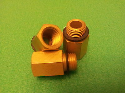 Brass Adaptor fitting 1/4 BSP (parallel) male to 1/4 NPT female