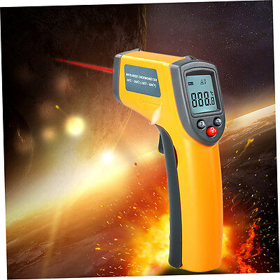 LCD Digital IR Infrared Thermometer Temperature Meter Non Contact Laser R&