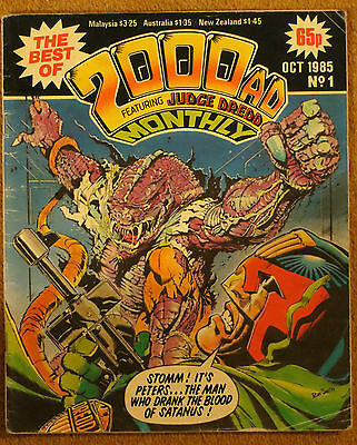 The Best of 2000AD Monthly Issue #1 Vintage 1985 Good Condition IPC Magazines