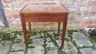 An Antique Edwardian Era Mahogany Piano Stool with Lift Up Seat Needs Some TLC