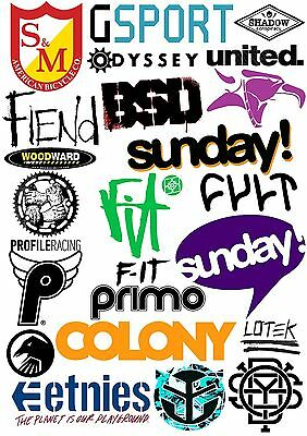 *Best Of BMX* Stickers S&M Profile Odyssey Fit Sunday Cult BSD Federal Shadow
