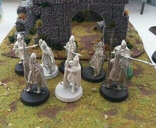 Warhammer Lord Of The Rings. 8 Citadel Guards. LOTR metal ESDLA EL HOBBIT GONDOR
