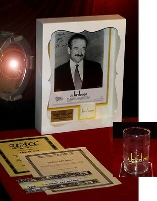 BIRDCAGE Robin Williams SIGNED AUTOGRAPH, PROP Matches GLASS DVD Frame, COA UACC