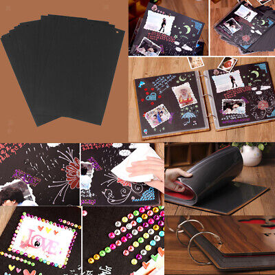 30pcs Scrapbook Photo Album DIY Mount Black Sheets Refill Pages 26*18cm Size