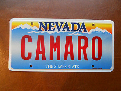 Nevada License Plate...CAMARO..vanity/personalized/collectible