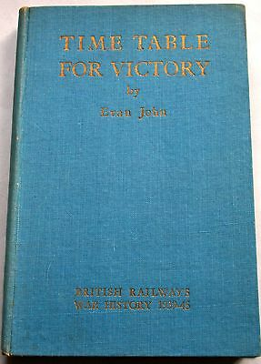 Rare British Railways Book - Timetable For Victory - Br War History 1939-45
