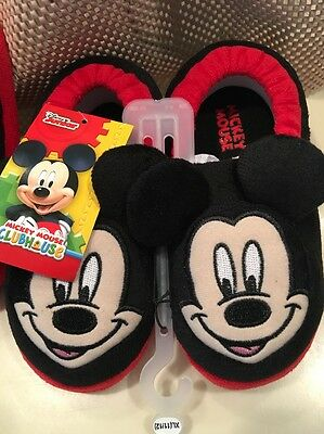 Mickey Mouse Kids Slippers L (9/10)  XL (11/12)
