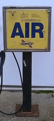 "Very Cool Vintage Sunoco Gas Service Station Air Tire Pump, 48"" Tall"