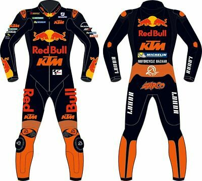 Ktm style motorbike racking leather suit with speed hump motogp racing suit