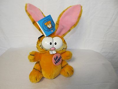 Garfield Bunny Ears Get Hoppy Plush Stuffed Animal Dakin 1981