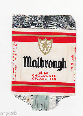 Marlbrough milk chocolate sweet cigarettes vintage empty paper packet