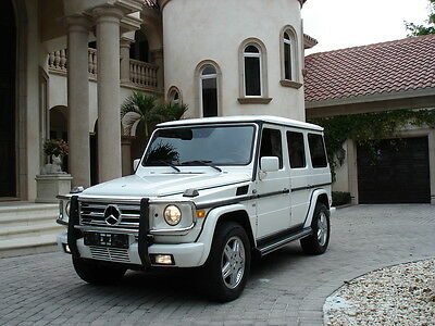 2002 Mercedes-Benz G-Class SUV FLORIDA G500, WHITE/BLACK,CARFAX CERTIFIED,UPDATES,L@@K