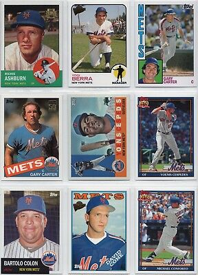 2001–2018 TOPPS ARCHIVES/FAN FAVORITES/REPRINTS NY Mets Lot (190 Cards) - NM/MT