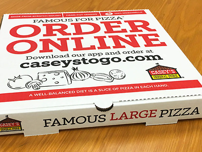 (10) Casey's General Stores Large Pizzas Carboard Cutouts Famous For Pizza!!!