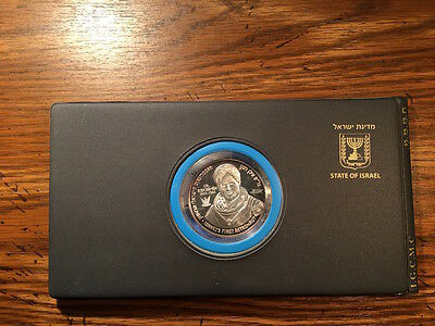 Ilan Ramon Silver Medal in Album + FDC 925 Proof 50mm 49g First Astronaut Israel