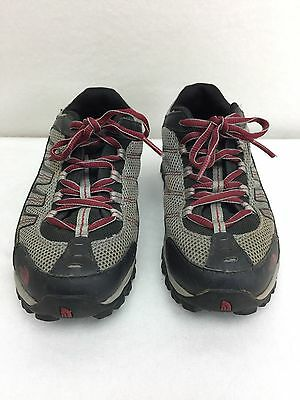 The North Face Kids Hiking Walking Shoes Size 3 Black Red Gray Ultra 109 EUC