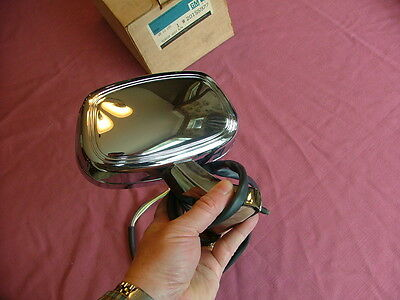 1980-82 Buick, Oldsmobile chrome remote mirror, RH, NOS! Electra LeSabre, 88, 98