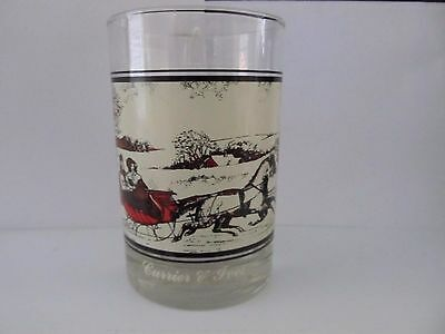 Currier & Ives 1978 The Road In Winter Arby's Collectors Glass