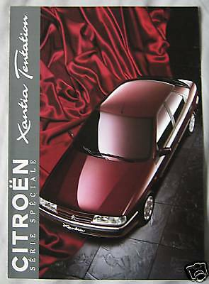 1995 Citroen Xantia Tentation (French) Brochure