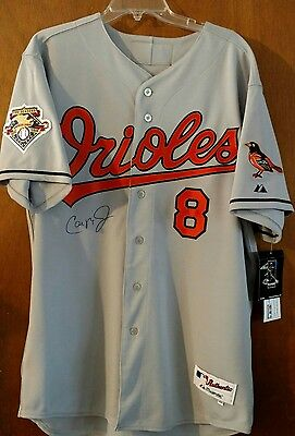 Cal Ripken autographed Orioles away jersey from Majestics Authentic Collection