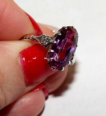 EXCLUSIVE ROYAL Corundum Ring Silver 875 USSR Antique SIZE 6