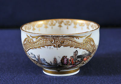 Antique Meissen Cup, late 18th century, hand painted, gilded decoration