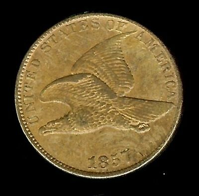 1857-Flying-Eagle-Cent-Au  @@@  Very Beautiful Coin  @@@