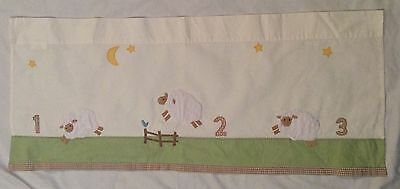 Pottery Barn Kids ~ COUNTING SHEEP  VALANCE ~ 44 x 18 ~ 1,2,3  Numbers