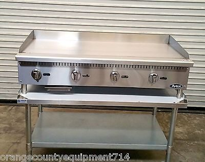 "NEW 48"" Gas Griddle & Stand Atosa ATMG-48 4176 Commercial Plancha Flat Top Grill"