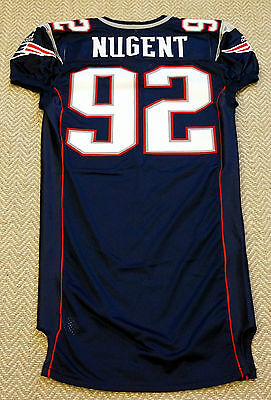 #92 David Nugent Game Issued New England Patriots Adidas Jersey
