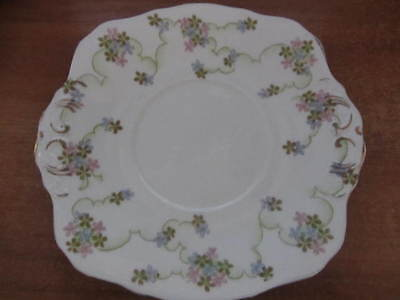 Pretty  Sutherland - ''floral'' Tab Handled Cake Plate