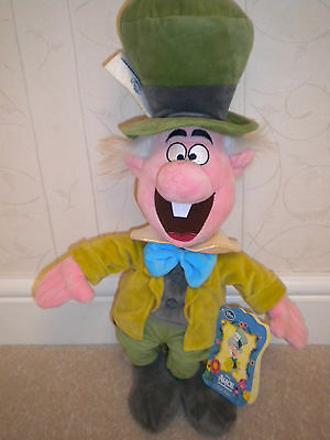 Brand New Genuine Disney Mad Hatter Soft Toy