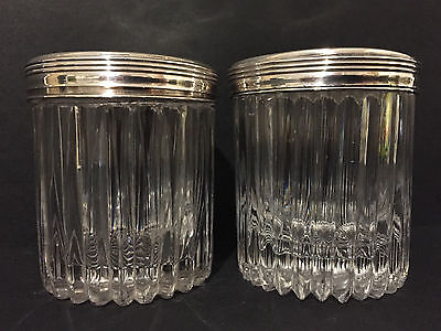 French Silver and Cut Glass Jars c1820 by Pierre Nicolas Blaquiere of Paris
