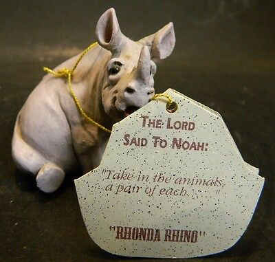 Vintage RHONDA RHINO Pete Aspit Holy Herd Noah's Ark Collectible Figurine Excell