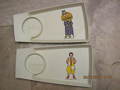 Vintage Ronald McDonald Childs Food Trays Mayor McCheese Excellent condition