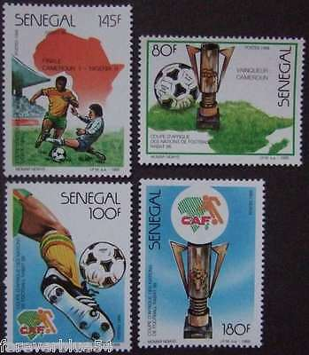 Senegal 1988 SG 946-949 (Sc 775-8) MNH - Football, African Nations Cup, Soccer