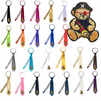 23 Color Stain Solid Zipper Pirate Bear Necktie Boys Formal Suits Newborn - 7
