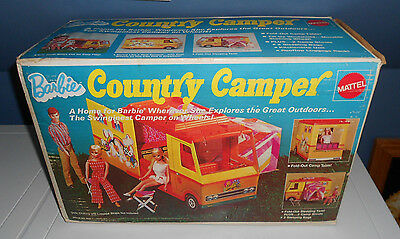 Vintage 1971 BARBIE COUNTRY CAMPER Doll Motorhome Tent COMPLETE w/BOX NICE!