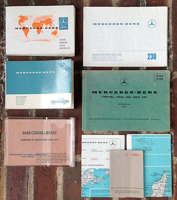 Mercedes-Benz Type 190 200 230 Catalog, Manual Supplement, Service Booklet +MORE