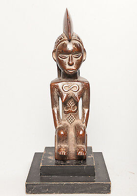 Bembe Female Seated Ancestor Statue, D.R. Congo, Zambia, Arts of Africa