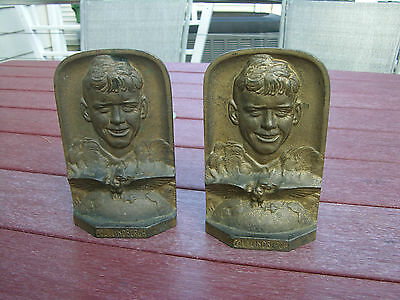 RARE Charles Lindbergh  Metal Book Ends   Uncatalogued - NEVER SEEN BEFORE